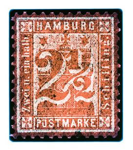 1864 Hamburg Two & a Half Shilling (Orange), 2016