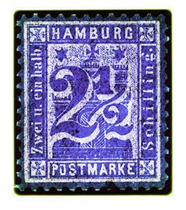 1864 Hamburg Two & a Half Shilling (Purple), 2016