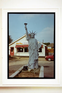 July IV, a statue of Liberty in a rural town on the Suffolk/Norfolk border. In the area where Richard grew up there were a lot of Americanisms.
