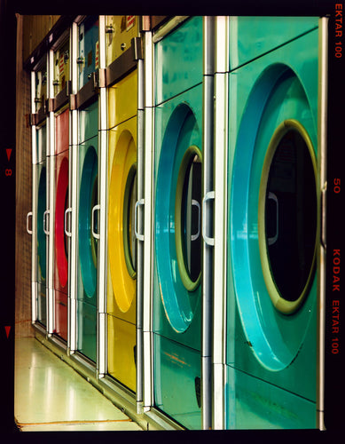 Launderette, a fantastically colourful interior taken in Richard Heeps' local area of Cambridge.