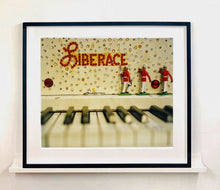 Load image into Gallery viewer, Liberace's Piano, part of Richard Heeps 'Dream in Colour' Series, it has an archetypal Las Vegas feel, featuring marching band and piano keys.