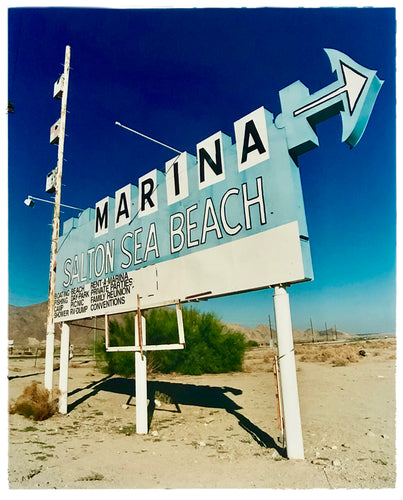 Marina Sign I, Salton Sea Beach, Salton Sea, California, 2003