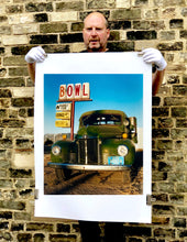 Load image into Gallery viewer, The classic American Truck in combination with the classic American Lifestyle with the cool Bowl Sign. The colours and subject create perfect Americana Pop Art Photography.