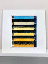 Load image into Gallery viewer, Rainbow Apartments shows a multi-coloured nineteen-sixties block of flats. From Richard Heeps' photography series 'A Short History of Milan', capturing Italian design and architecture.