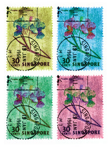 30 Cents Singapore Orchid (Multi-Colour Mosaic)