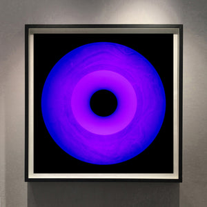 'Three Minutes Thirty (Ultraviolet)', by acclaimed contemporary photographers, Richard Heeps and Natasha Heidler. Their Vinyl Collection is a celebration of the vinyl record and analogue technology.