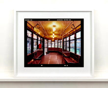 Load image into Gallery viewer, Vintage tram interior, captured in Milan. Affordable fine art limited edition photographic prints, handmade in Richard's Cambridge darkrooms.
