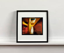 Load image into Gallery viewer, Italian designed brutalist architecture in Milan, featuring red and yellow pillars.
