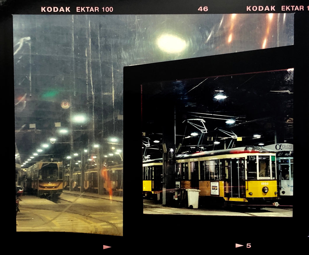 Through the Window of the Turro Tram Depot, Milan, 2018