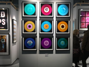 "Nine Piece ""Blues"" Vinyl Installation"