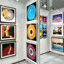Load image into Gallery viewer, 'Three Minutes Thirty (Flames)', by acclaimed contemporary photographers, Richard Heeps and Natasha Heidler. Their Vinyl Collection is a celebration of the vinyl record and analogue technology.