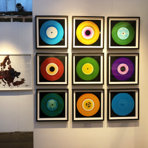 'Three Minutes Thirty (Flames)', by acclaimed contemporary photographers, Richard Heeps and Natasha Heidler. Their Vinyl Collection is a celebration of the vinyl record and analogue technology.