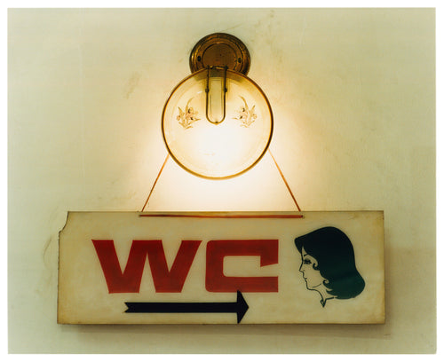 WC, a retro kitsch vintage sign captured in Ho Chi Minh City, Vietnam. This piece is a perfect balance of tone, texture and typography.