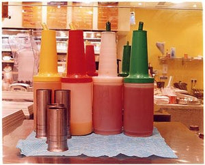 Sauce Bottles - Crussh Bar, Canary Wharf, Docklands, London 2004