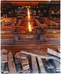 Mill train moving hot steel, Bloom&Billet Mill, Scunthorpe 2007