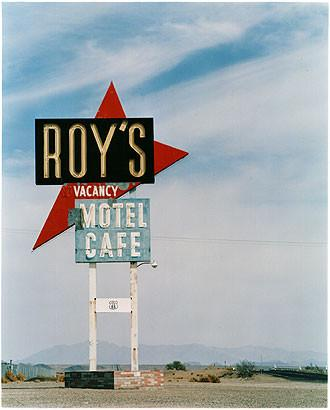 Roy's Motel Sign, Amboy, California 2002