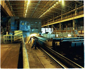 Grinder 5 at work, Bloom&Billet Mill, Scunthorpe 2007
