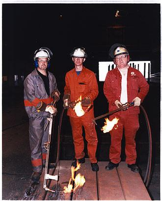 Neil Hall, Nigel Hearth and Pat Gribben, Bloom&Billet Mill, Scunthorpe 2007