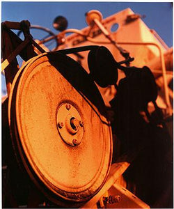 0°00' longitude, 52°35N' latitude, Combine Harvester, Wisbech St Mary's Wash, 2001