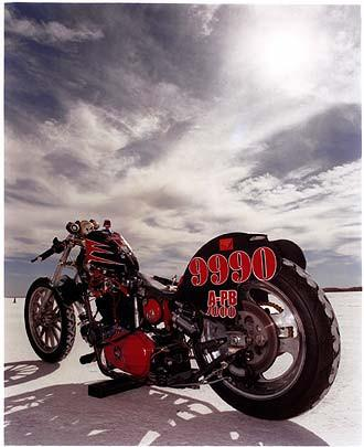 Larrie Petrie - Iron Head Chopper, Bonneville, Utah 2003