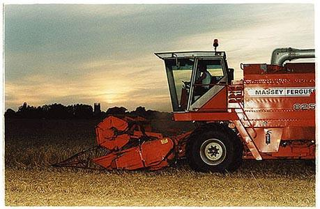 Church Lane - Combine Harvester, Cottenham, Cambridgeshire 2002