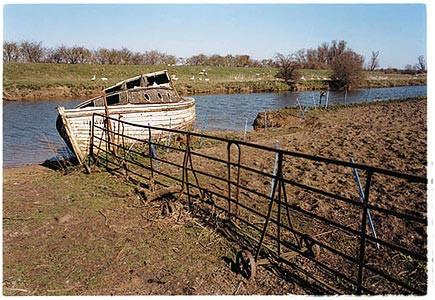 Old West River - River Boat, Cottenham, Cambridgeshire 2002