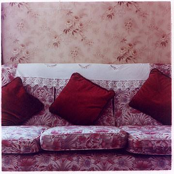 Couch & Cushions, Post War Prefab, Wisbech 1993