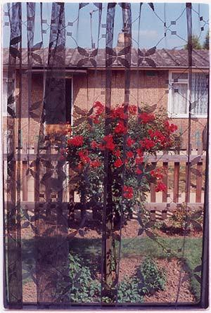 View through front door, Post War Prefab, Wisbech 1993