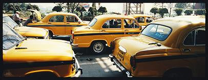 Parked Taxi's, Kolkata, West Bengal, 2013