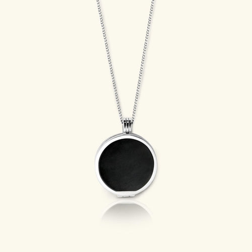 Eclipse Necklace for Men – Tahitian Black Pearl - digital lockets by evermée