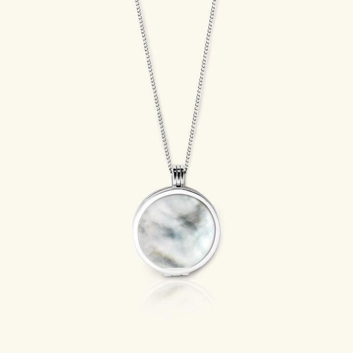 Full Moon Necklace – Mother of Pearls Gemstone - digital lockets by evermée
