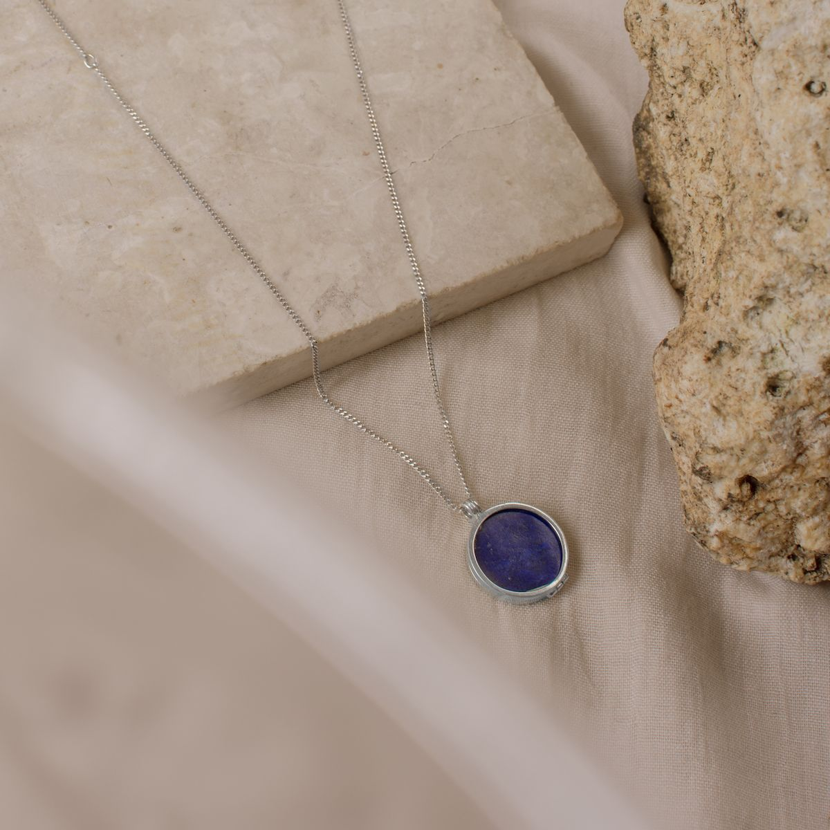 Midnight Necklace – Lapis Lazuli Gemstone - digital lockets by evermée