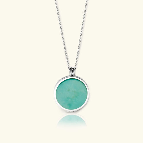 Turquoise Sky Locket Necklace – Turquoise Gemstone - digital lockets by evermée