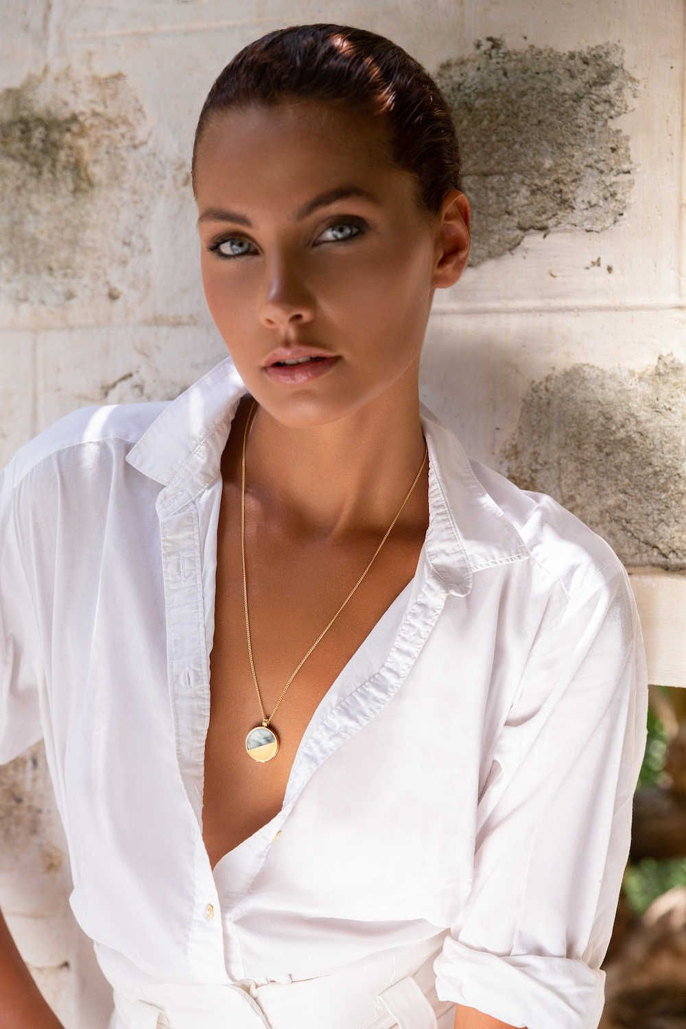 Mother Of Pearls Necklace gold vermeil