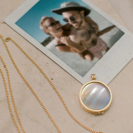 memories necklace mother of pearl