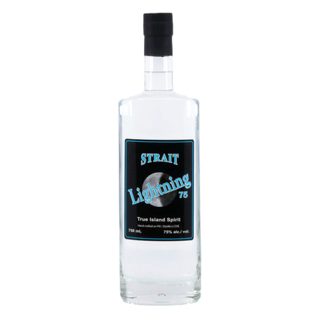 Strait Lightning 75% abv 750mL