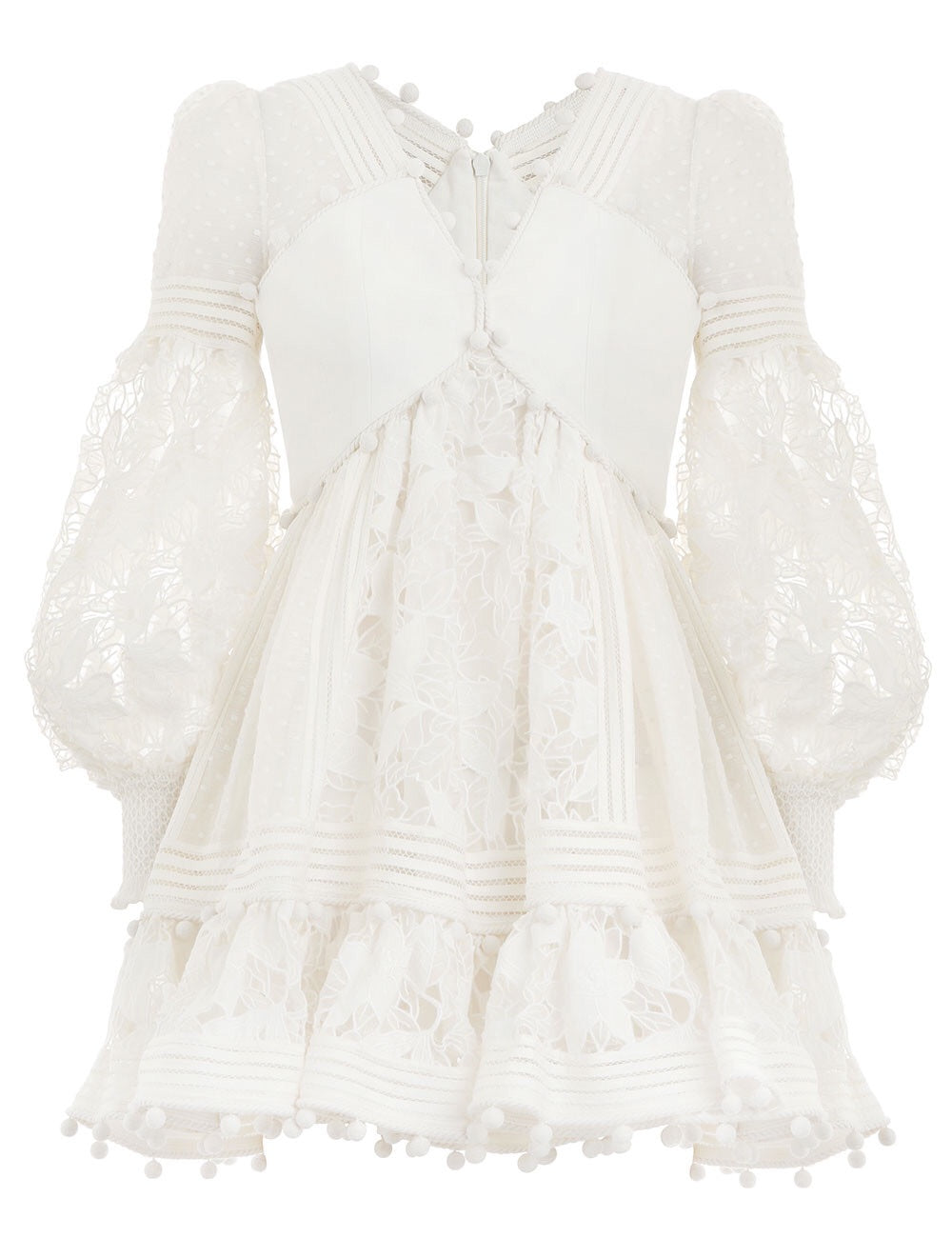 700467082c68 ... Load image into Gallery viewer, ZIMMERMANN Corsage Embellished Mini  Dress ...