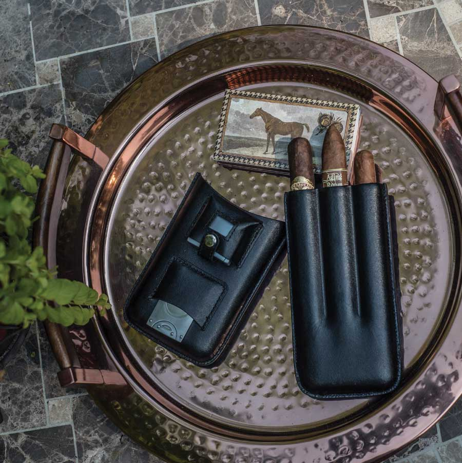 Black Leather Cigar Kit
