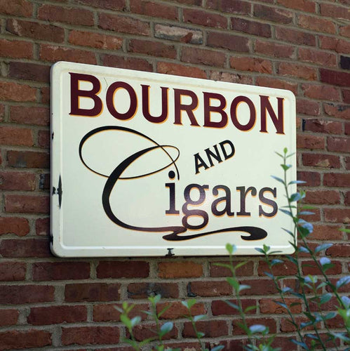 Bourbon & Cigars Sign