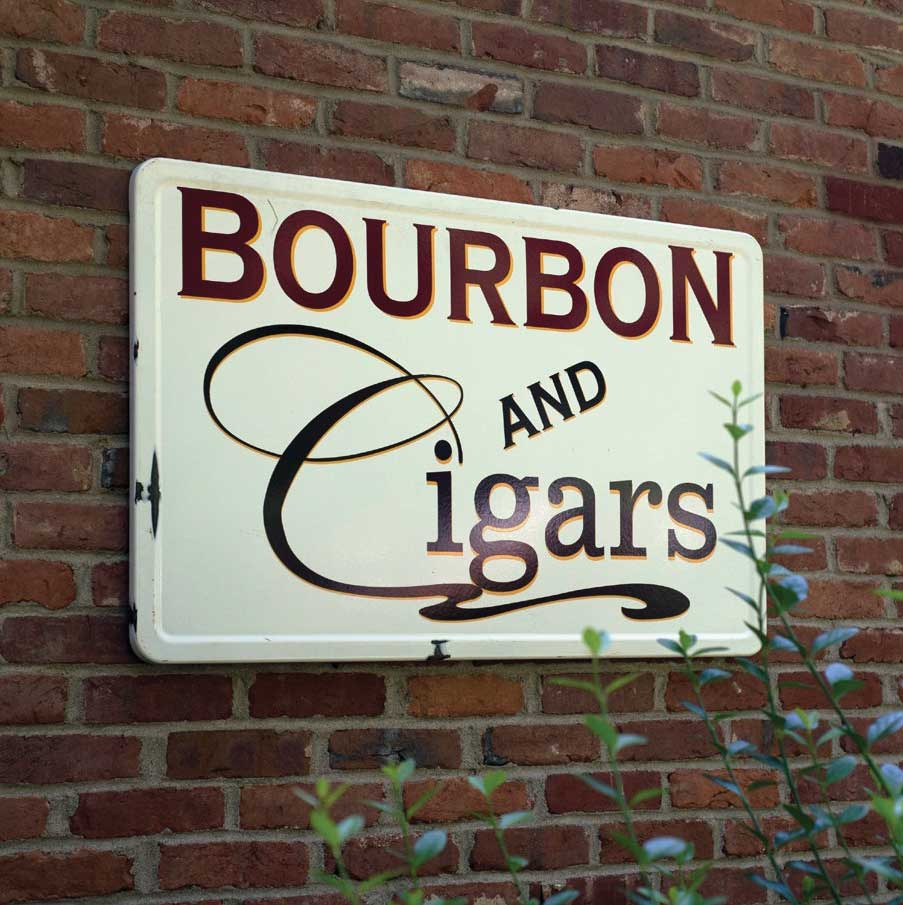 SOLD OUT Bourbon & Cigars Sign