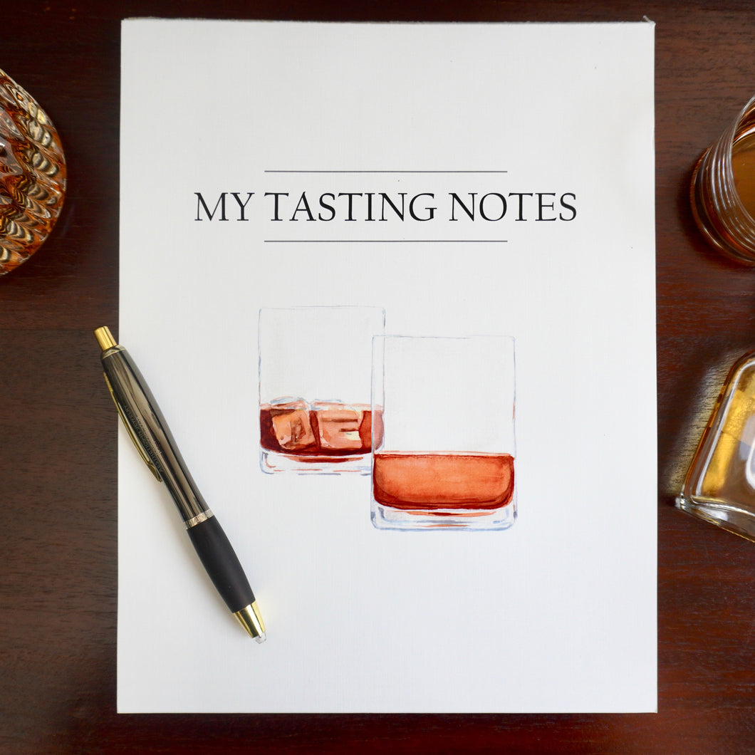 Tasting Notes Tear-Off Notepad
