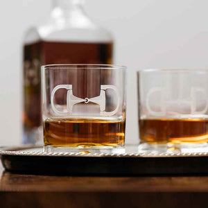 Cheval Double Old Fashioned Crystal Glasses by Julie Wear