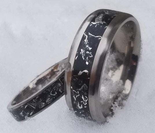 Captured Carbon Eco Friendly ring