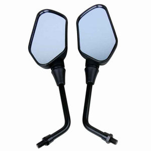 BLACK Motorcycle rearview mirrors for Yamaha Zuma 50 YW50