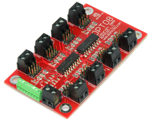 OPTO-8 8-Way Optical Isolation Optocoupler Board