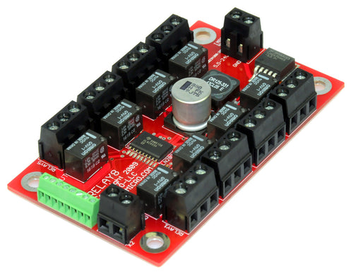 RELAY-8 Relay Board w/Integrated Power Supply