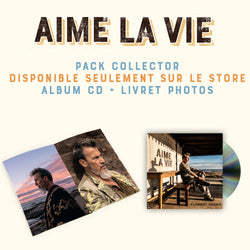 Pack CD + livret photos - Aime la Vie - Florent Pagny