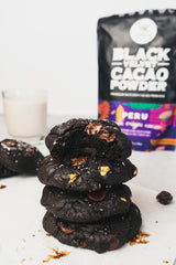 Black Velvet Triple Chocolate Chip Cookies with Sea Salt