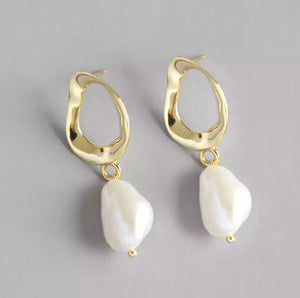 Baroque Pearl Drop Stud
