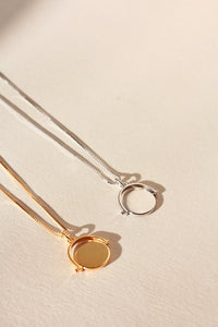 Spinning Disc Pendant Necklace - Gold